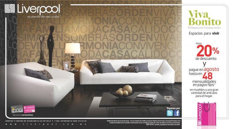 Liverpool: hasta 20% de descuento en muebles y artículos para el hogar