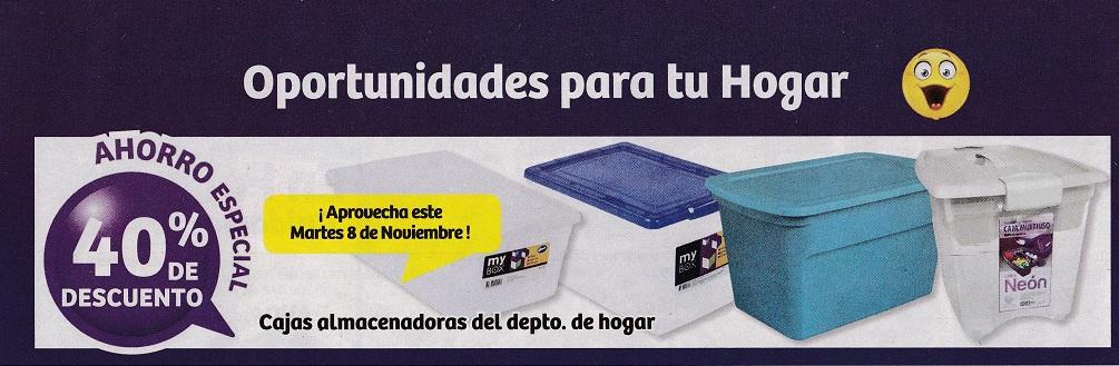 Soriana Híper: 40% de descuento en Cajas almacenadoras del departamento de hogar sólo hoy