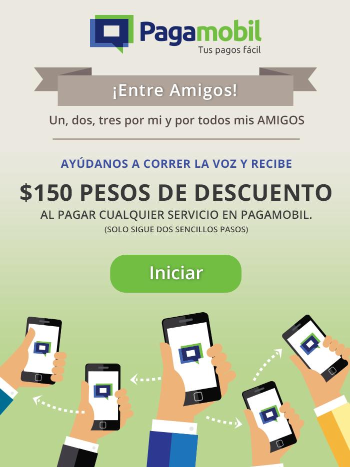 Pagamobil: $150 descuento para pago de servicios de $200 compartiendo por Whatsapp