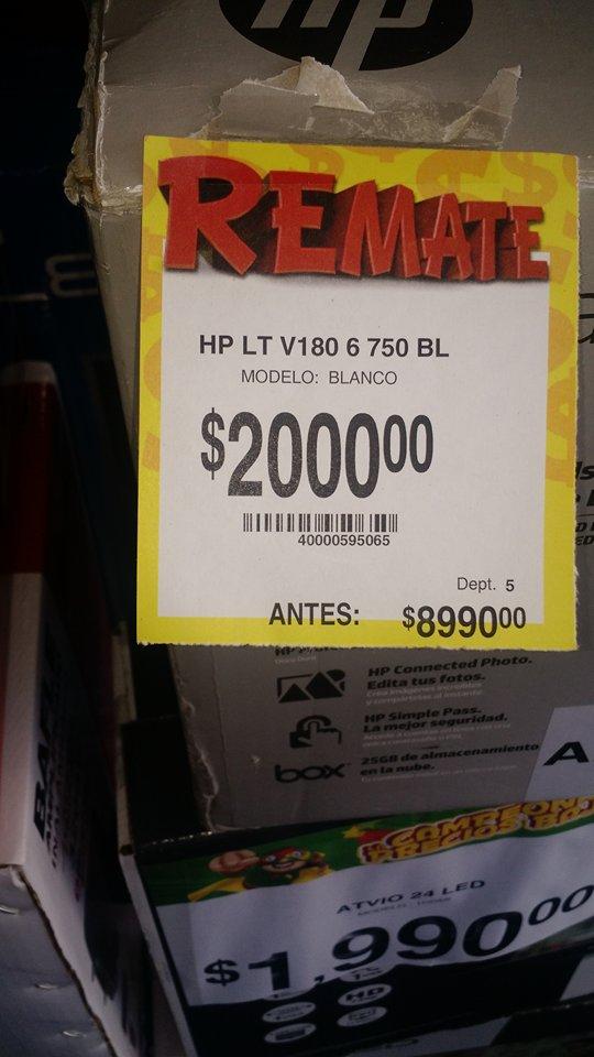 Bodega Aurrerá Capu, Puebla: laptop HP LT V180 de $8,999 a $2,000