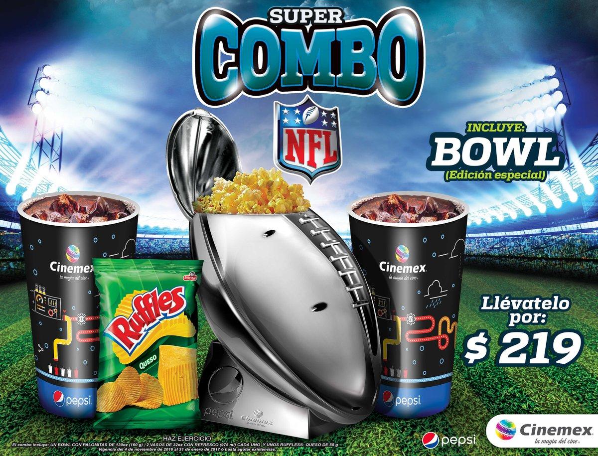 Cinemex: Supercombo NFL con trofeo Vince Lombardi