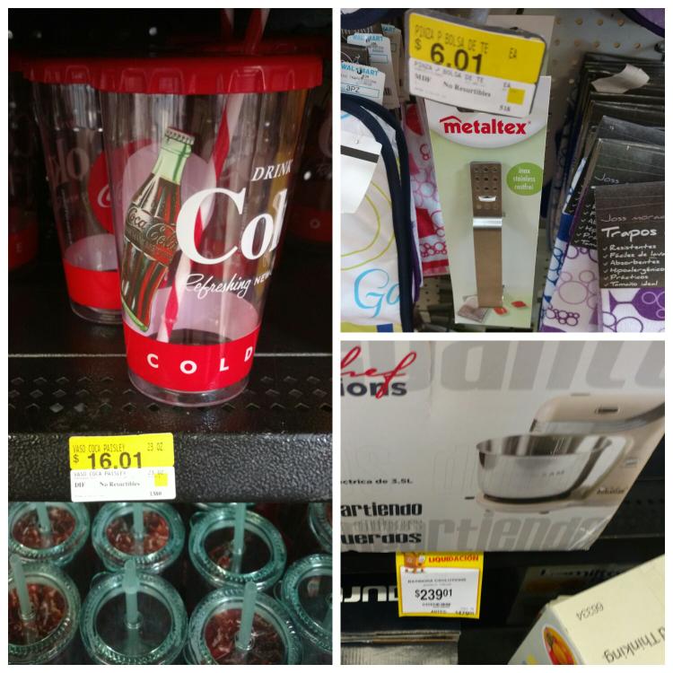 Walmart Tuxtla: Vaso c/popote  coca cola $16.01 y mas..