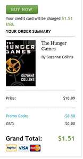 Libro digital The Hunger Games a 1.50 dólares