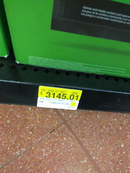 Walmart Cuajimalpa: Xbox One 500GB Refurbished con Kinect $3,145.01