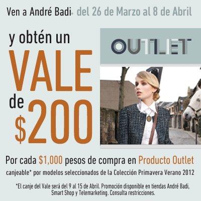 André Badi: vale de $200 por cada $1,000 de compra en producto outlet