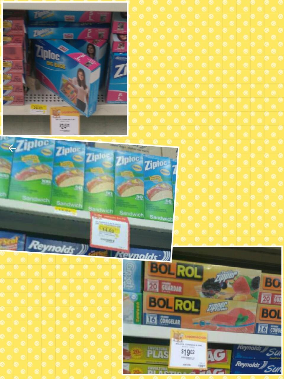 Walmart Galerias en León, Bolsas Ziploc para alimentos en liquidación