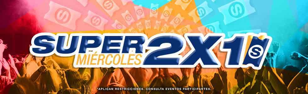Superboletos: eventos 2x1, miércoles 9 noviembre 2016