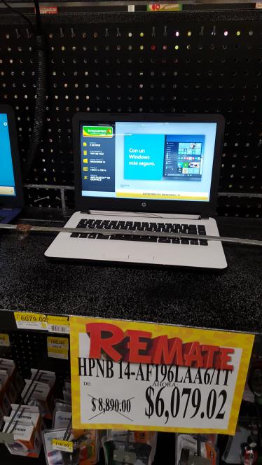 Bodega Aurrerá Apinismo: laptops HP 14-af196 a $6,079.02 y HP nb-245 a $3,489.02