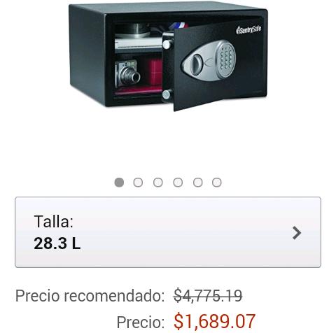 Amazon: Caja fuerte SentrySafe 11kg