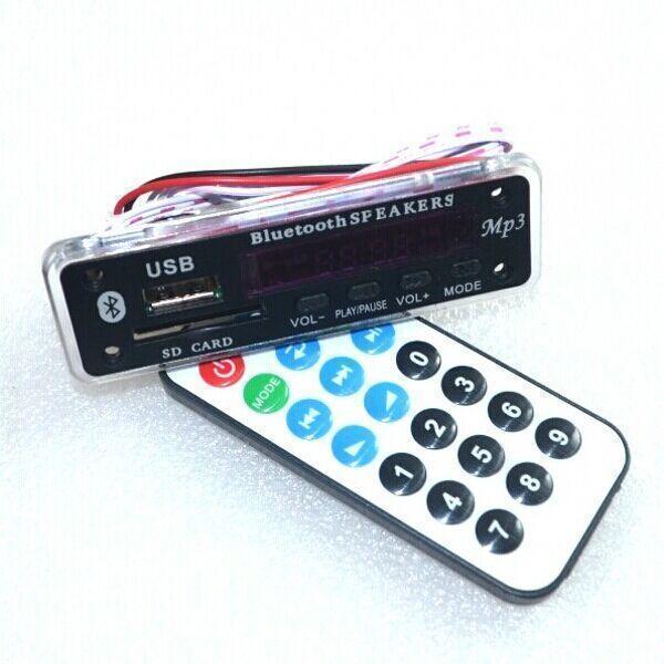 Aliexpress: Módulo Bluetooth con ranura para SD/USB/FM/ y control remoto.