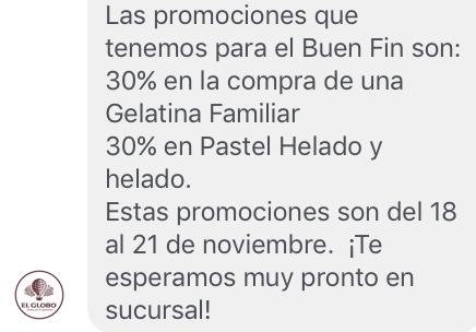 Promociones del Buen Fin 2016: El Globo