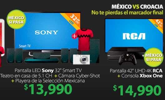 """Walmart: pantalla LED 4K de 42"""" + Xbox One $14,990 y más"""