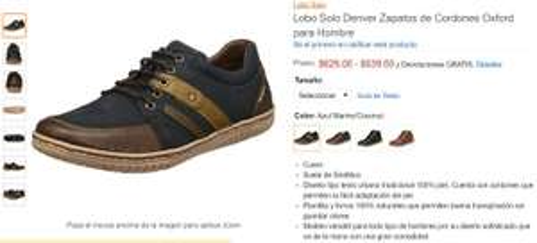 Amazon: Zapatos de Cordones Oxford para Hombre