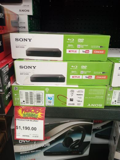 Bodega Aurrerá: reproductor Blu-ray Sony