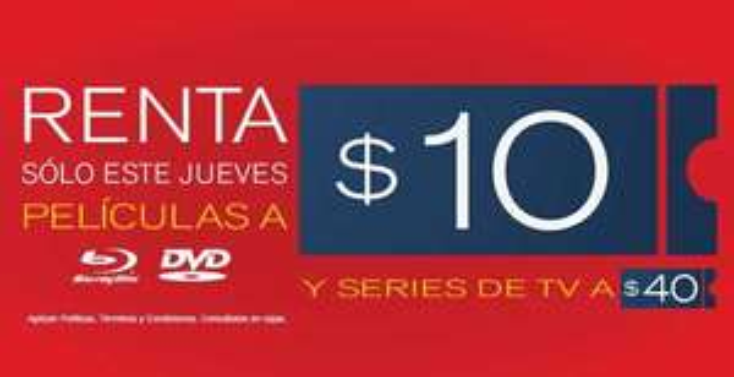 Blockbuster: rentas a $10 mañana 22 de marzo