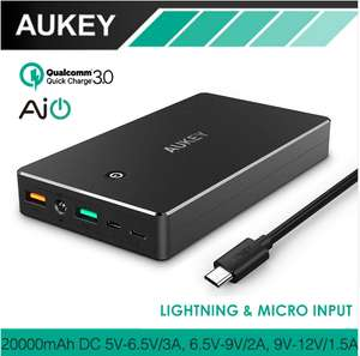 AliExpress: Power Bank Aukey 20,000 mAh 3.0