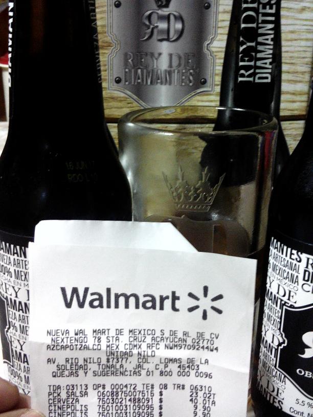 Walmart Rio Nilo: 2 cervezas rey de diamantes + tarro  cervecero