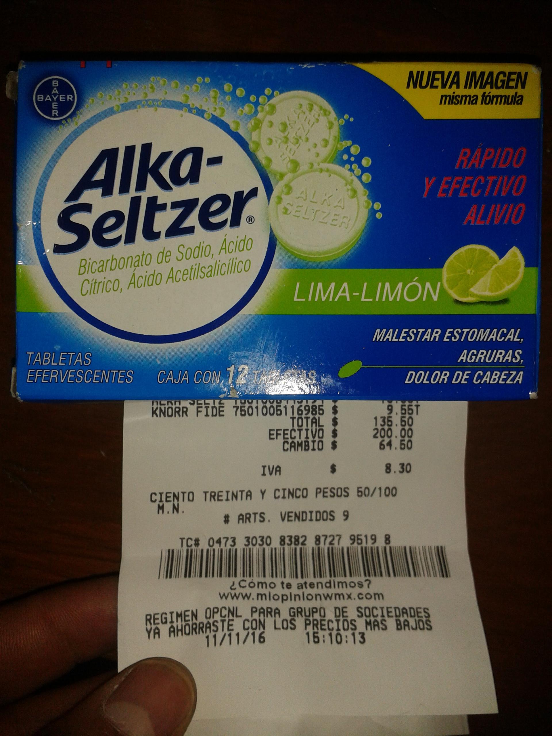 Bodega Aurrerá: Alka-Seltzer a $10 y gel Dr. Piojo a $12