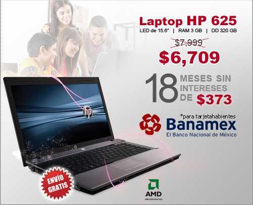 Famsa: laptop HP 625  $6,709 y envío gratis