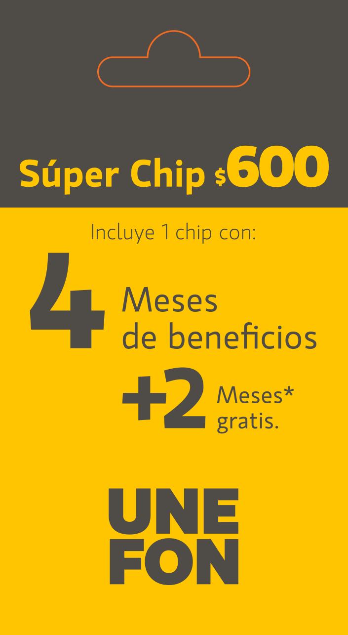 Unefon: Super recargas ($600 por 6 meses de servicio)