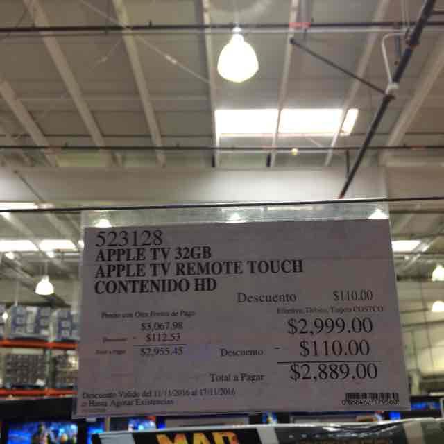 Costco: Apple TV 4ta generación 32GB a $2,899