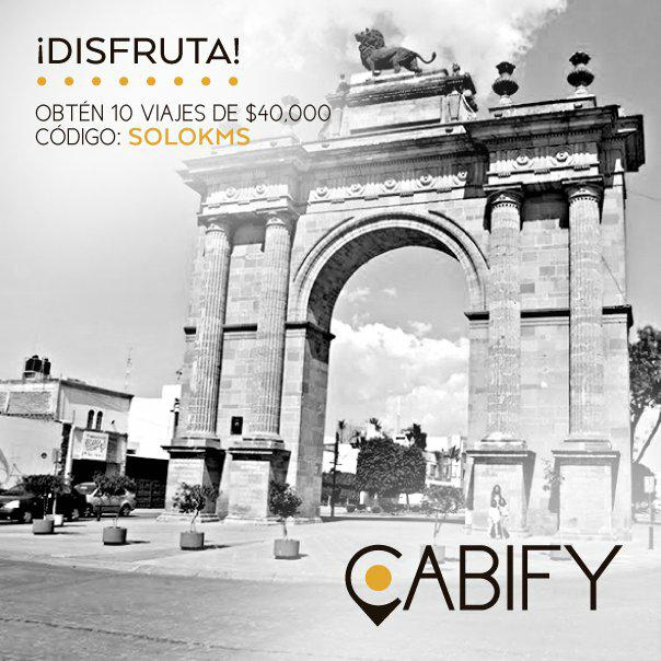 Cabify León: 10 viajes de hasta $40 gratis nuevos usuarios
