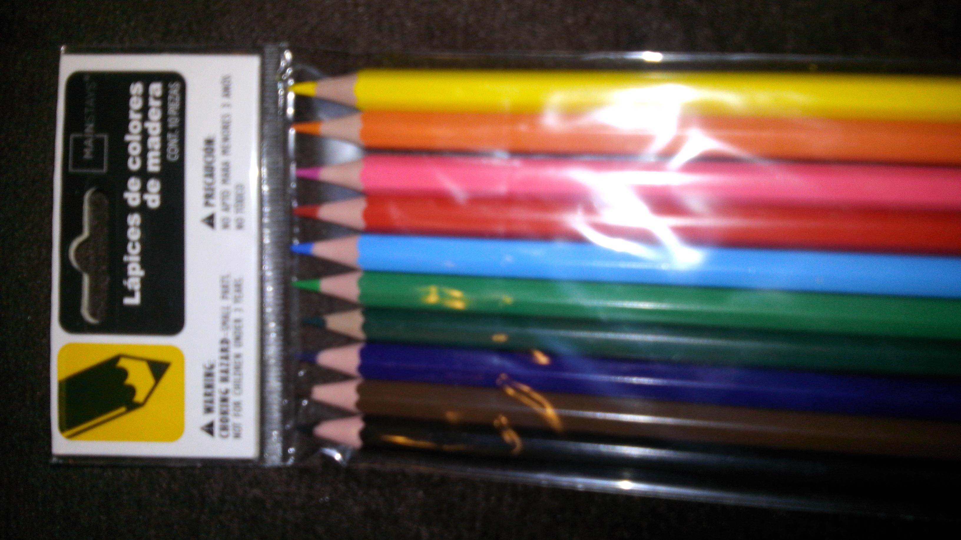 Walmart Ensenada: Colores de madera 10 piezas y mas en papeleria