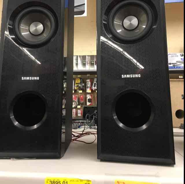 Walmart plaza Aragón: Torres de sonido Samsung