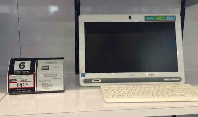 La Comer: computadora Acer AZC-602 a $3,249