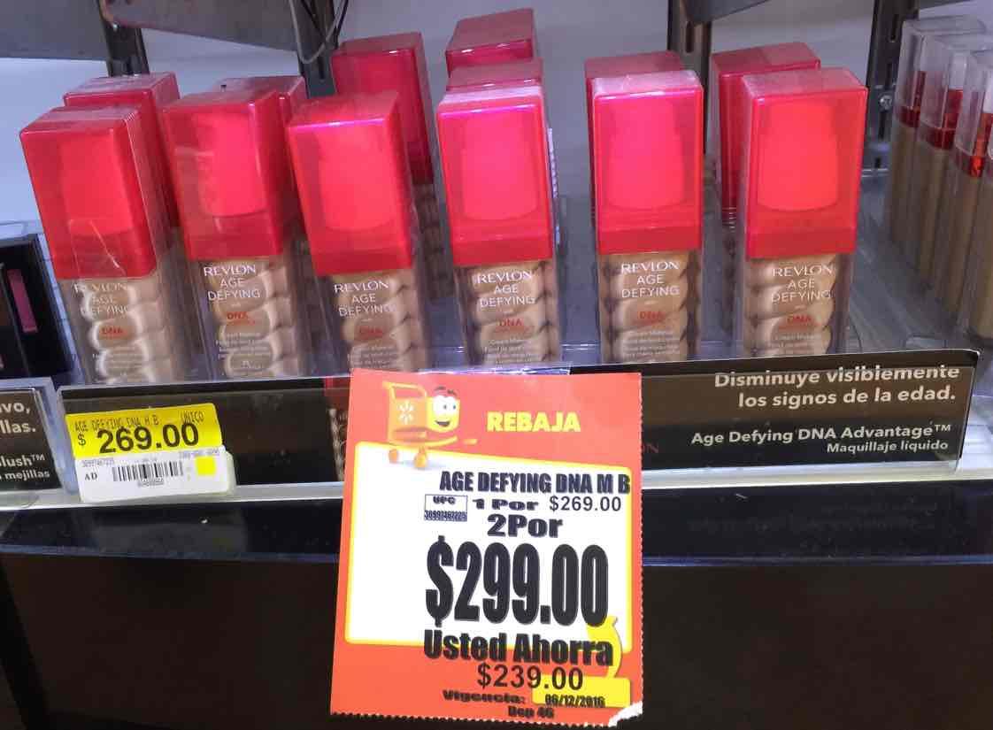 Walmart Chetumal: Revlon Age Defying  2 x $299