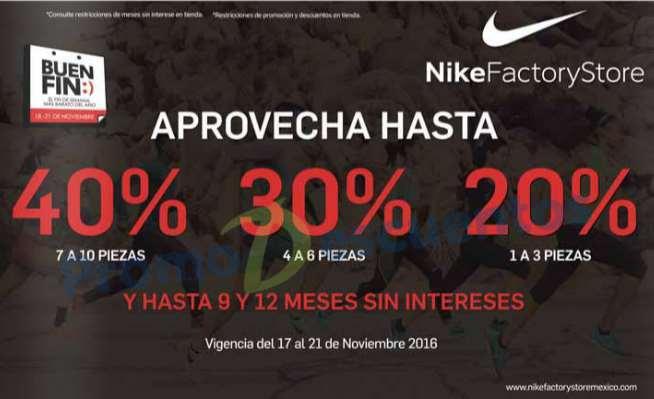 El Buen Fin 2016 en Nike Outlet: hasta 40% de descuento