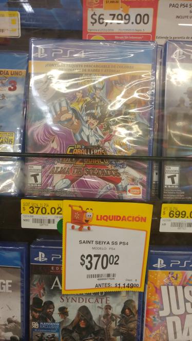 Walmart: Caballeros del Zodiaco, Alma de Soldados PS4 a $370.02