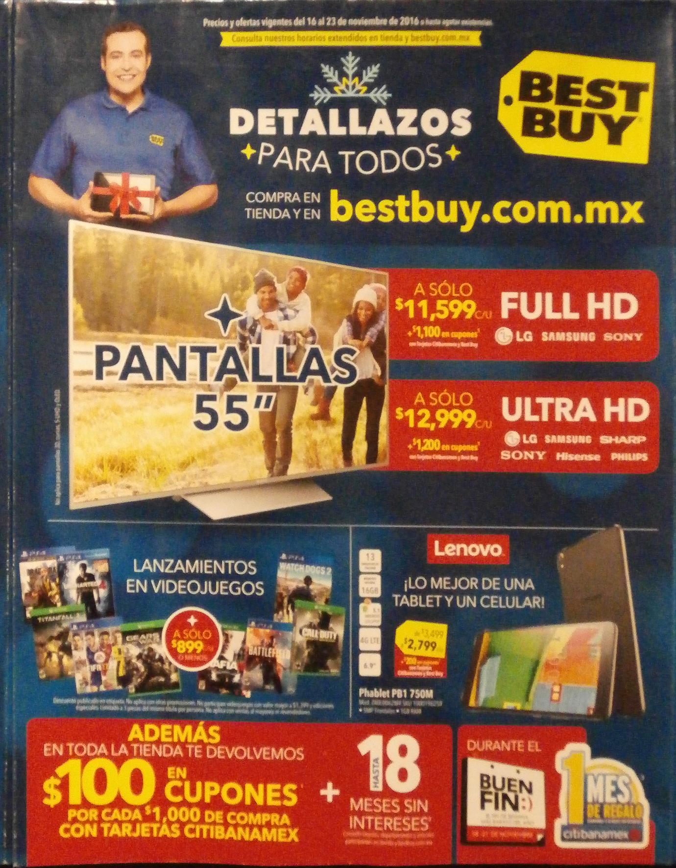 Folleto de ofertas del Buen Fin 2016 en Best Buy