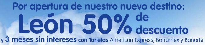 Interjet: 50% de descuento a León, su nuevo destino