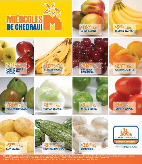 Miércoles de frutas y verduras Chedraui marzo 14: piña $4.90 Kg, aguacate $18.90 Kg y más