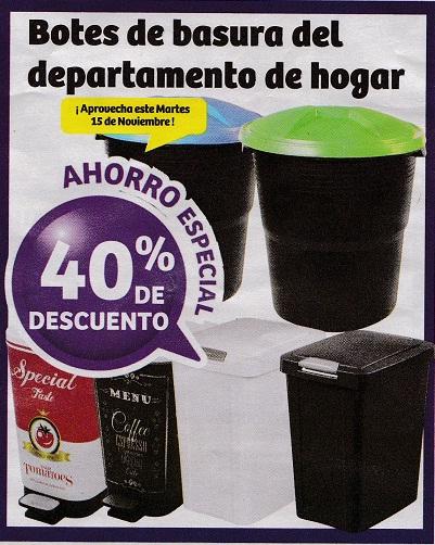 Soriana Híper: 40% de descuento en todos los botes de basura del departamento de hogar sólo hoy