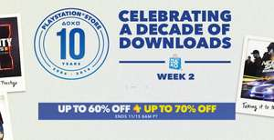 Playstation Network -10th Anniversary Sale , Semana 2