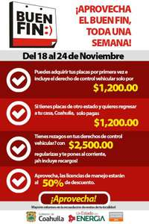 Licencias de conducir en Coahuila a $309