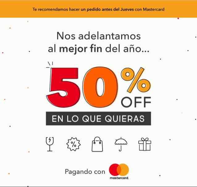 Rappi: 50% OFF en lo que quieras, pagando con Mastercard