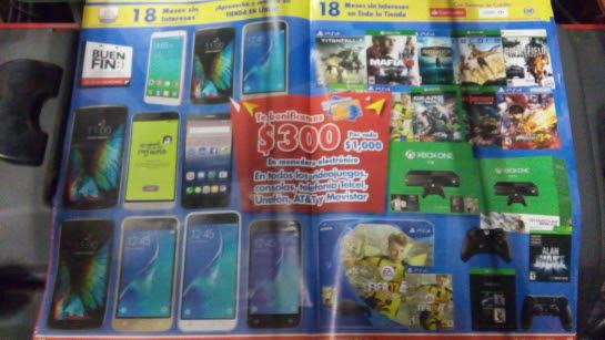 Folleto del Buen Fin 2016 en Chedraui (adelanto): bonificación en videojuegos y celulares