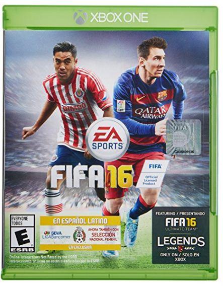 Amazon: FIFA 16 Xbox One, 360 y PS3