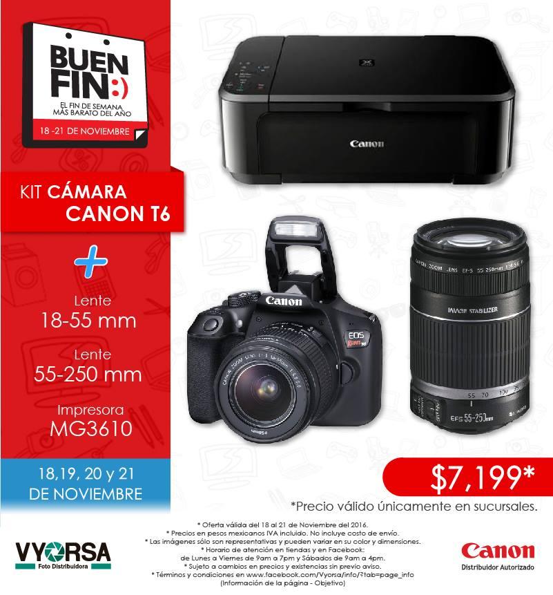 Foto Distribuidora Vyorsa: Canon T6 + Lente 18-55 + Lente 55-250 + Impresora Canon