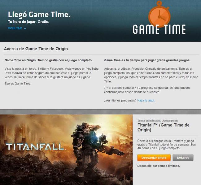Origin: juega Titanfall gratis por 48 horas