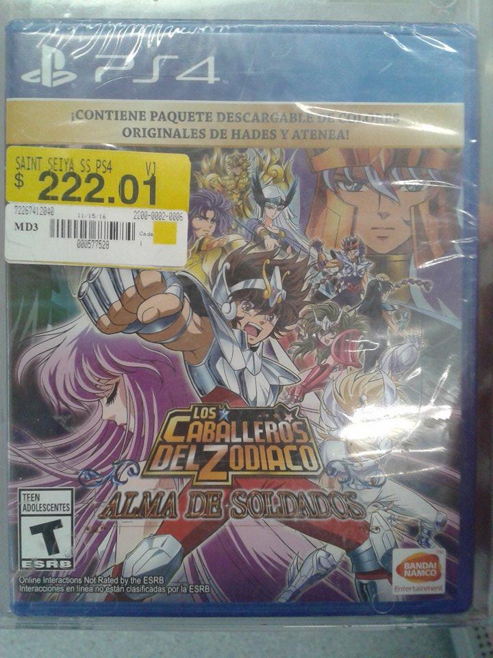 Walmart: Saint Seiya PS4 $222.01