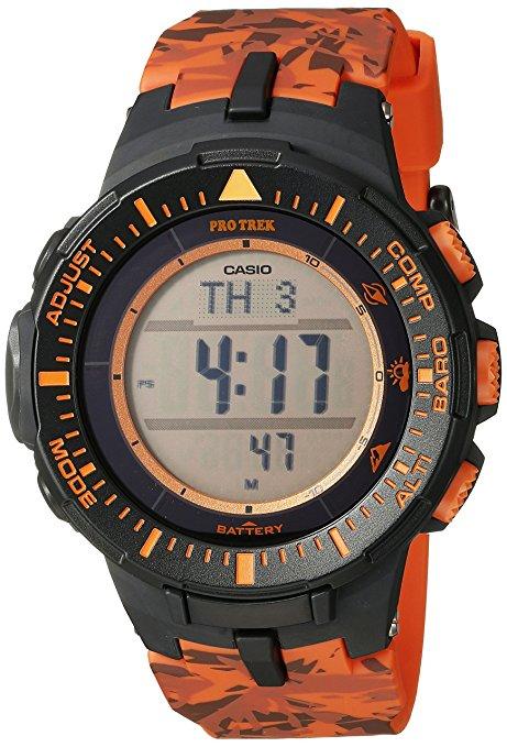 Amazon: Reloj deportivo Casio PRG-300CM-4 color negro / naranja