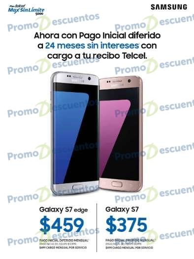 El Buen Fin 2016 en Telcel: Galaxy S7 Edge 24 pagos de $459 + servico, S7 o $375 al mes