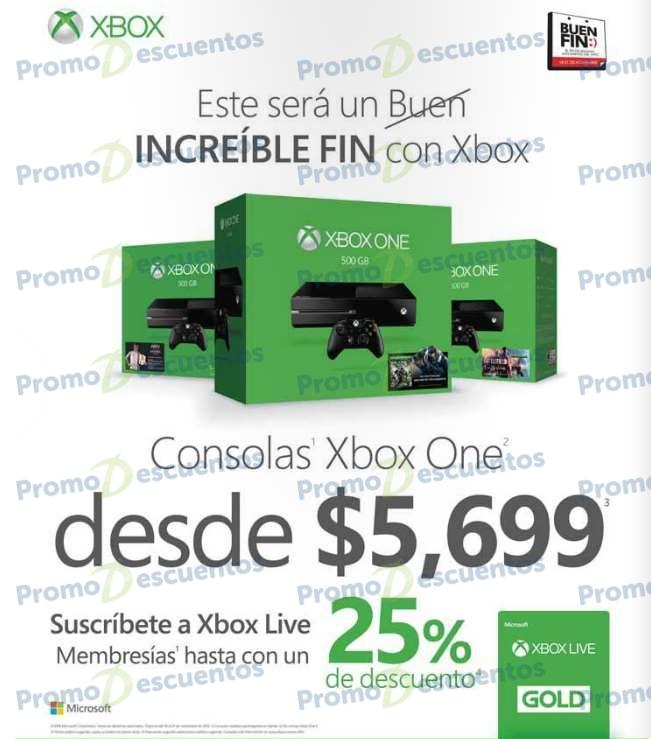 El Buen Fin 2016 en Xbox Mexico: precio especial en consola y descuento en Gold