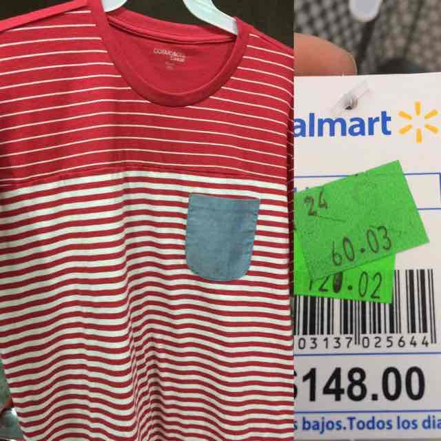 Walmart Oriente: liquidación de playeras a $60.03