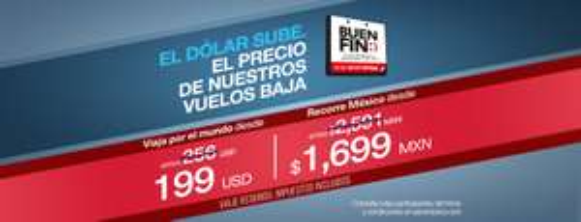 El Buen Fin 2016 en Aeroméxico: vuelos redondos desde $1,699