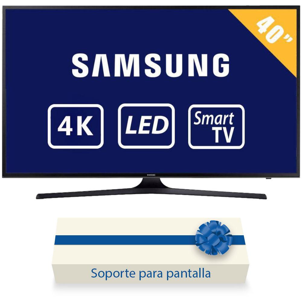 "Walmart: TV Samsung 40"" 4K Ultra HD Smart TV LED mas Soporte de pared"